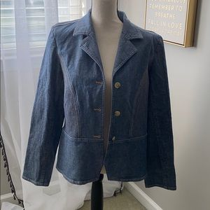 Company Ellen Tracy Denim Blazer 10